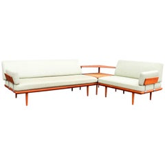 "Peter Hvidt & Orla Mølgaard ""Minerva"" Sofa Set and Table for France & Daverkosen"