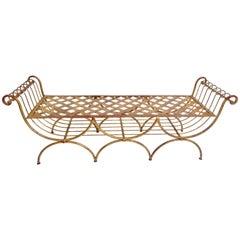 Mid Century Italian Gilt Bench