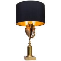 "Table Lamp ""Shell"" by Maison Charles, France, circa 1970"