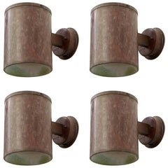 Set of Four Copper Wall Lamps by Fagerhult, 1960s