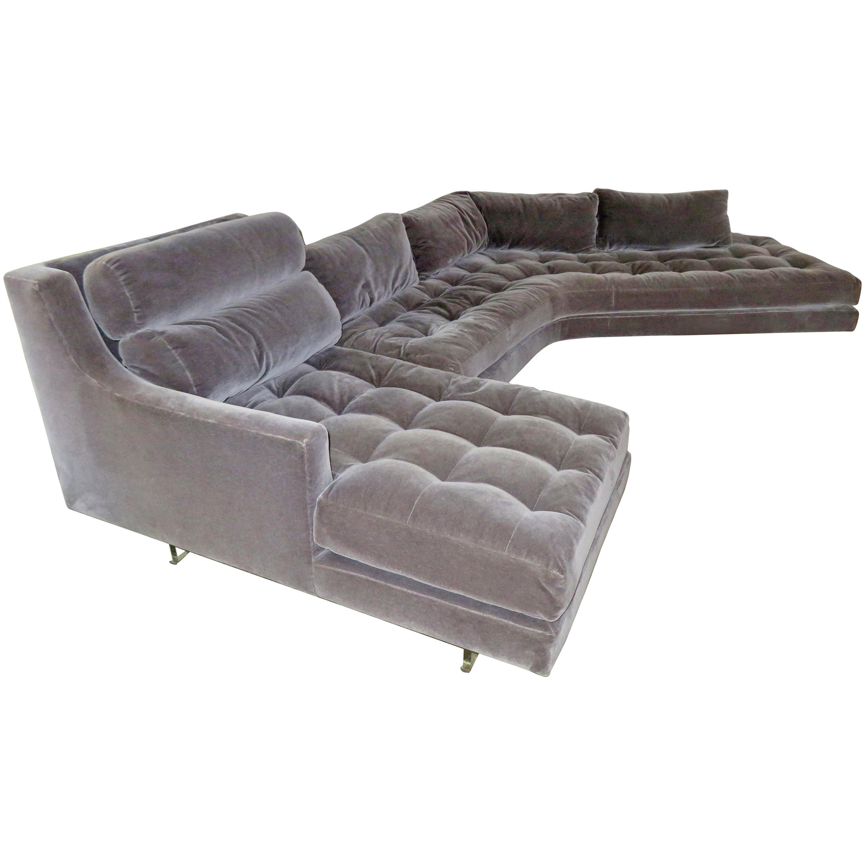 Stunning Vladimir Kagan Three-Piece Omnibus Sectional Sofa Coffee Table