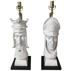 Pair of Mod Chess Piece Lamps