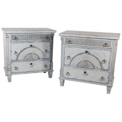 Pair of Louis XVI Style Chests 20th Century Gustavian Style Sweden