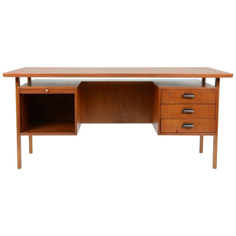 Wonderful Executive Desk by Torben Strandgaard for Falster Mobler of Denmark For Sale