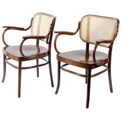 Two Thonet Bendwood Armchairs Mod. Nr. 283 F, Designed by Gustav Adolf Schneck