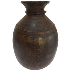 Hand-Carved African Tuareg Tribal Wooden Milk Jug