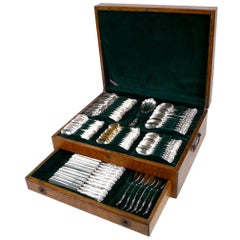 Kings Pattern Sterling Flatware by Wallace in Its Original Fitted Case