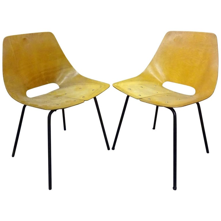 Pair of Tonneau Guariche Chairs