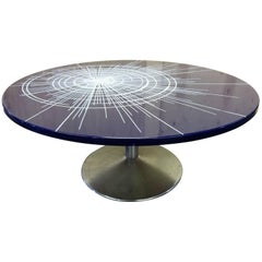 Blue Enameled Metal Table