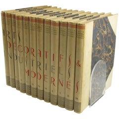 Arts Decoratifs et Industriels Modernes Encyclopedie, 12 Books, 1925