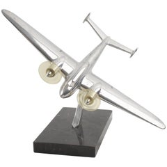 Aviation French Aluminum and Marble Airplane Model
