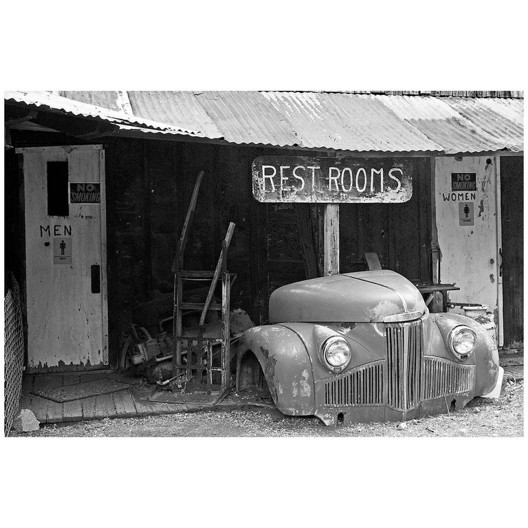 """""""1940s Studebaker M Series Truck with Rest Room Sign"""" Print by Gregg Felsen For Sale"""