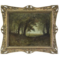 Forest Painting in the Manner of Gustave Courbet