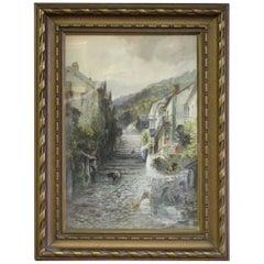 Painting of Clovelly, Devon
