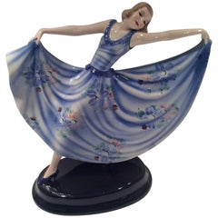 Art Deco Goldscheider Figure of a Dancing Girl
