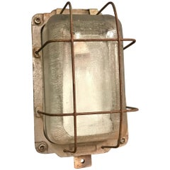 Industrial Caged Bully Wall Light