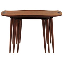 1960s Jens Quistgaard Nesting Tables in Teak
