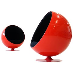 Set of Two Original Adelta Ball Chair by Eero Aarnio Asko