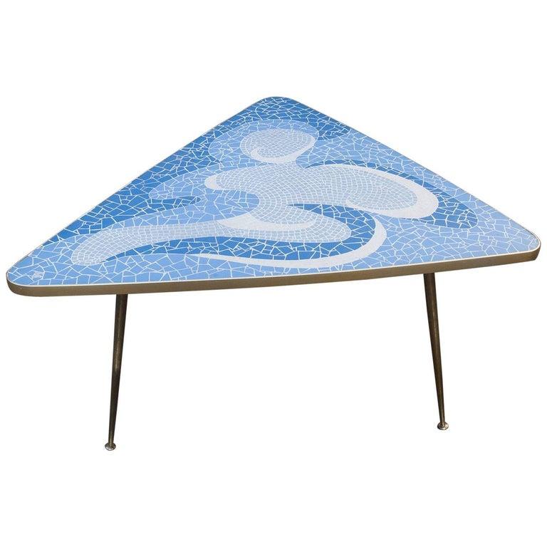 Fantastic Light Blue Mosaic Coffee Table