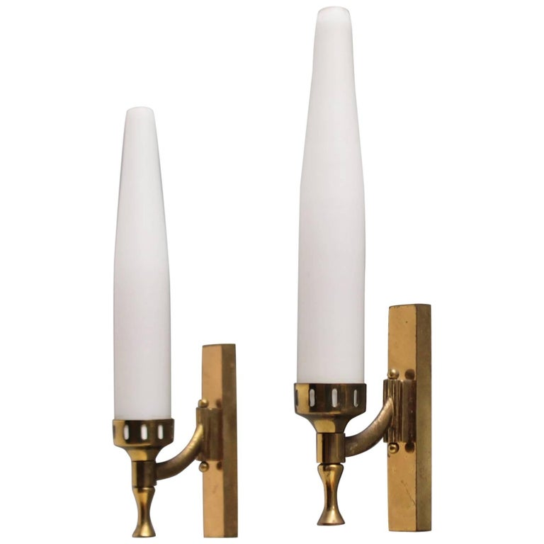 Pair of Italian Sconces Attributed to Arredoluce For Sale