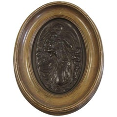 Bromsgrove Guild a Bronze Oval Wall Plaque