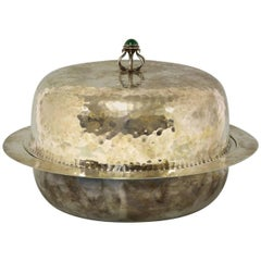 Liberty and Co. An Arts and Crafts Silver Plated Muffin Dish by Liberty and Co