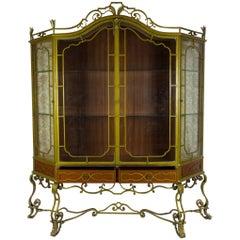 Painted Ironwork Display Cabinet