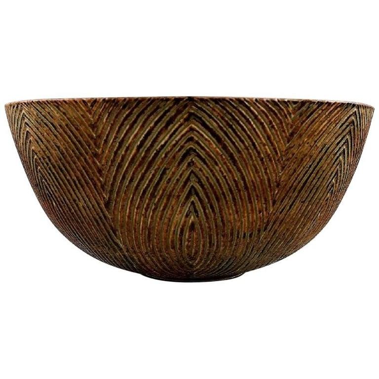 Axel Salto, Plained Style, Royal Copenhagen, Very Large Bowl