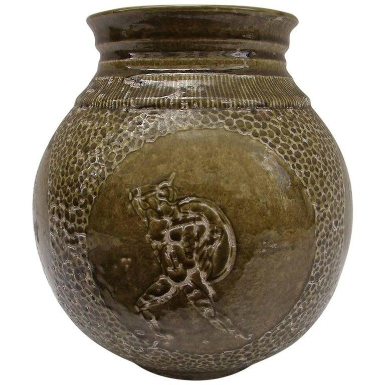 Green Vase by Jeans Mayodon, circa 1930