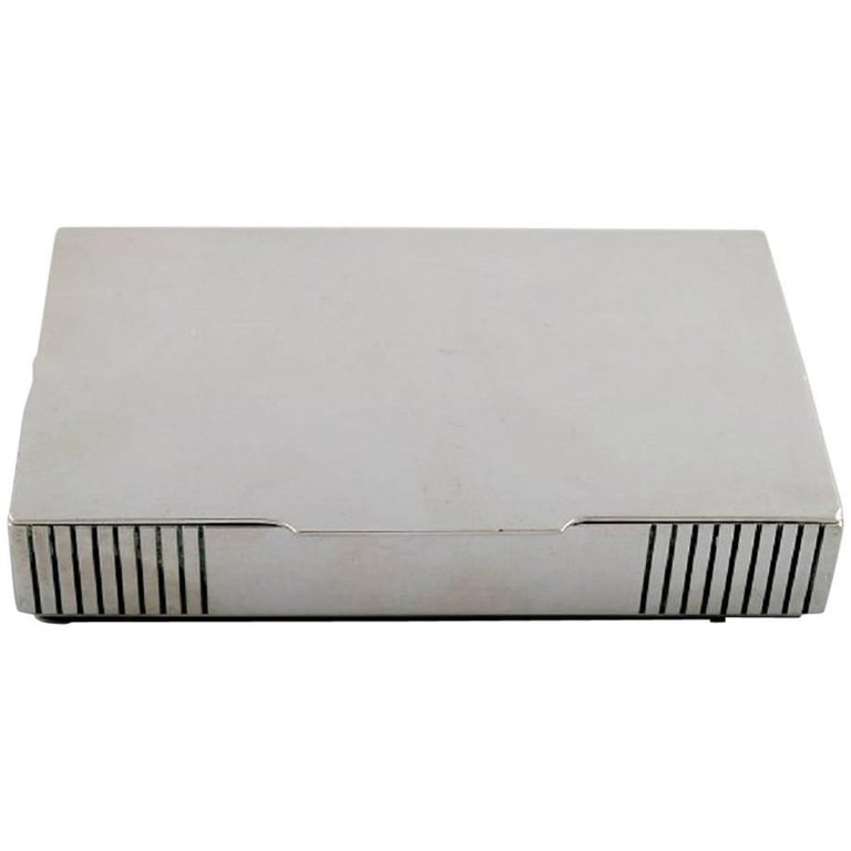 Georg Jensen Sterling Silver Keepsake Box No. 843 by Jorgen Jensen