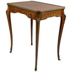 19th Century Gilt Bronze-Mounted Kingwood Tulipwood Inlaid Occasional Table
