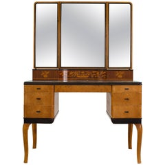 "Carl Malmsten ""Haga"" Vanity-Makeup Table for NK, Stockholm, 1935"