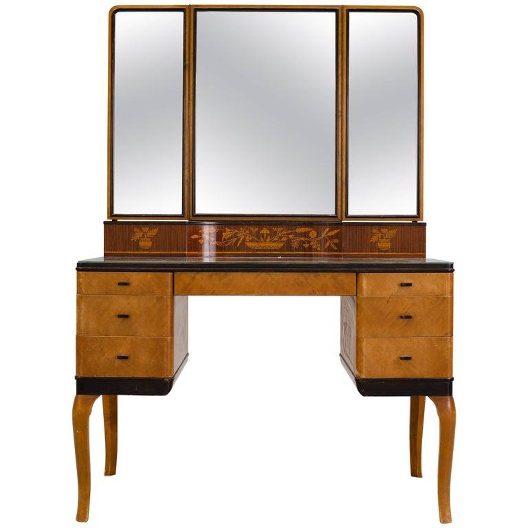"Carl Malmsten ""Haga"" Vanity-Makeup Table for NK, Stockholm, 1935"