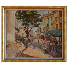 A. Van Oeyen Oil on Canvas Art Deco, 1939