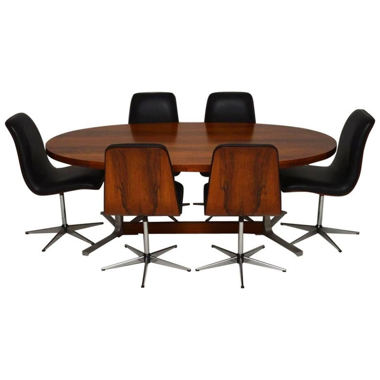 1960s Vintage Dining Table and Chairs by Robert Heritage for Archie Shine