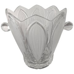Art Deco Glass Vine or Champagne Cooler Verlys
