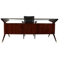Midcentury Desk and Chair by Vitorrio Dassi