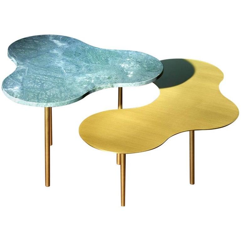 Glass Coffee Table Ensemble of 2 Sebastian Scherer