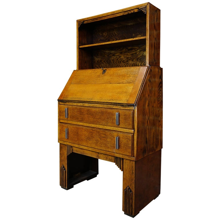 antique french secretaire art deco style at 1stdibs. Black Bedroom Furniture Sets. Home Design Ideas