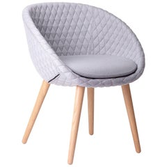 Moooi Love Chair by Marcel Wanders in Fabric with Six Ashwood Leg Color Options