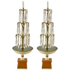 Pair of Art Deco Fountain Lamps, Provenance Edmonde Charles-Roux