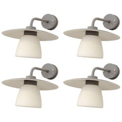 Set of Four Outdoor Wall Lamps by Boréns, Sweden, 1980s