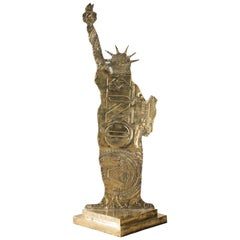 "Andreas Wargenbrant ""Statue of Liberty"" Sculpture in Gilded Bronze No. 2/8"