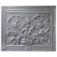 17th-18th Century French 'Phoenix' Fireback