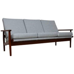 1960s Danish Vintage Sofa in Afromosia