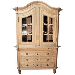 Authentic 18th Century Flemisch Glass Cabinet