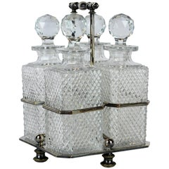 Georgian Style Sheffield SP Tantalus Decanter Set