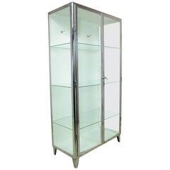 Polished Steel Medical Cabinet