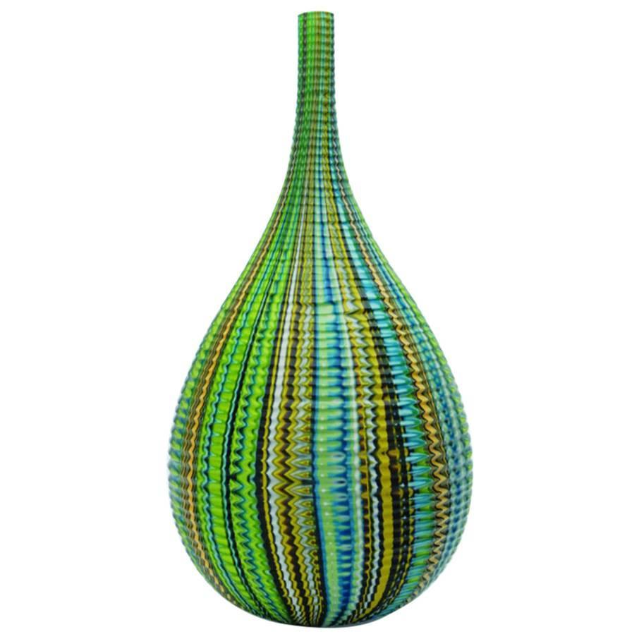 Mokume Inciso Meadow Teardrop Vase by Siemon & Salazar