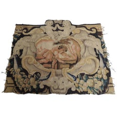 18th Century Antique Verdure Tapestry Panel